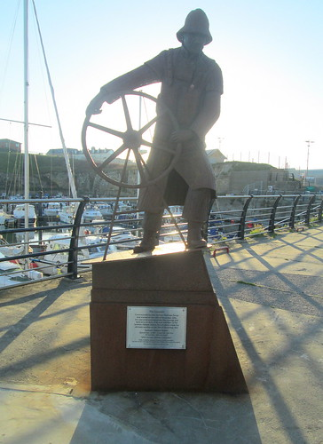 The Coxswain, Lifeboatmen's Memorial, Seaham,