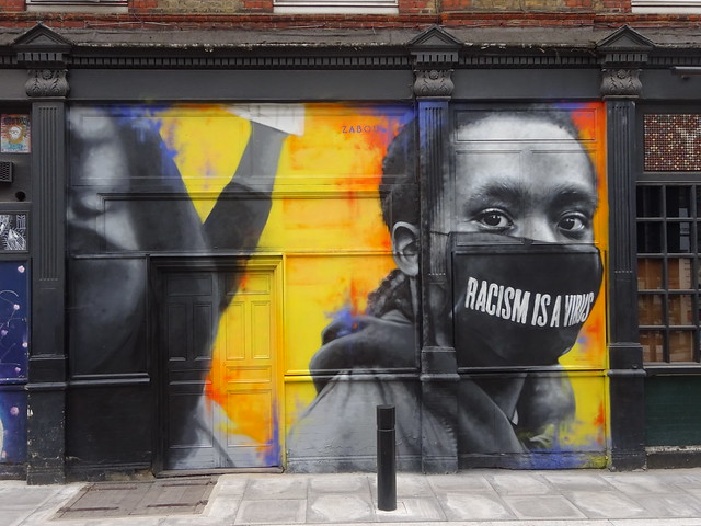 Racism Is A Virus-Zabou graffiti, Shoreditch