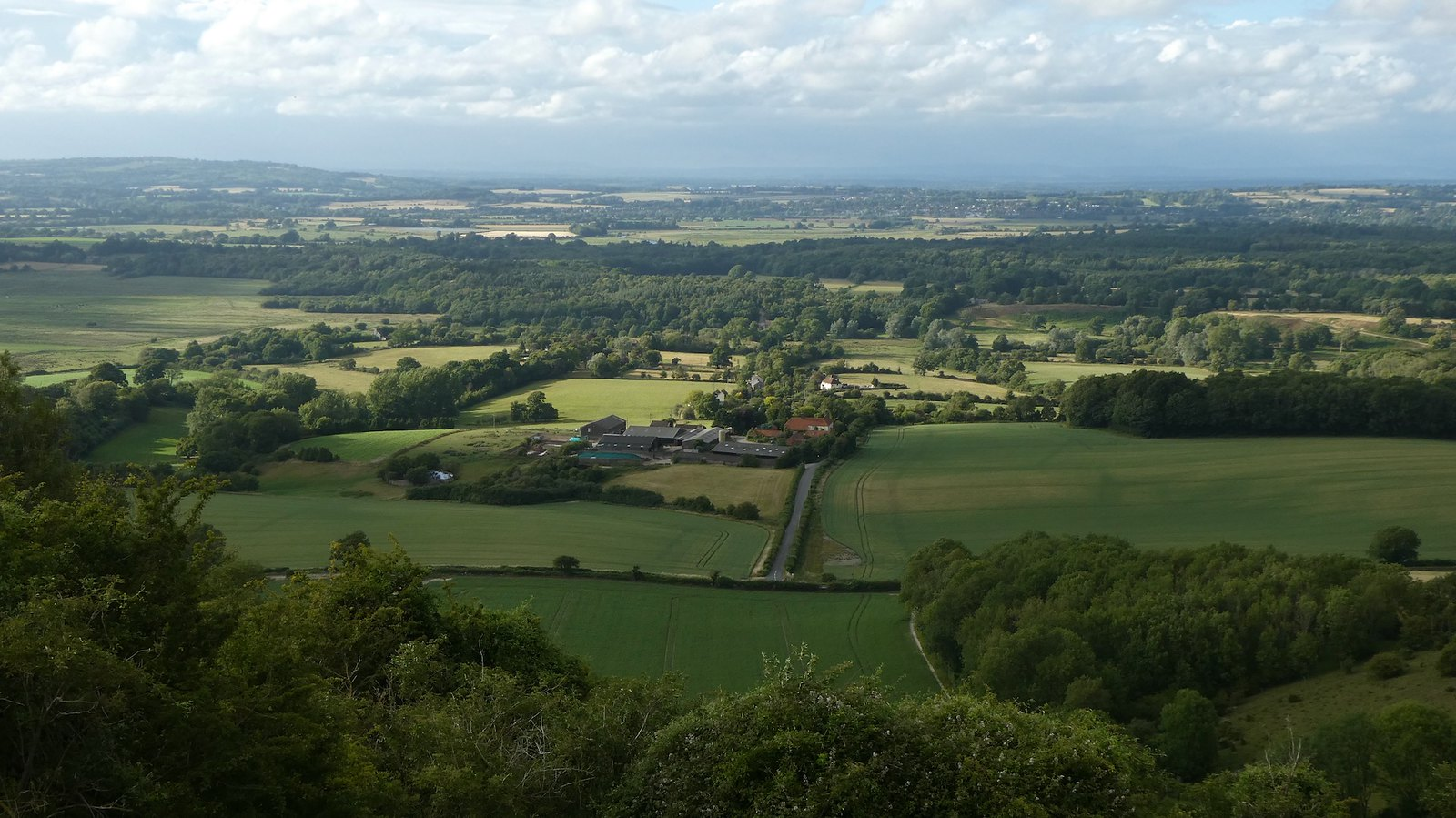 View from the downs Pulborough to Amberley walk
