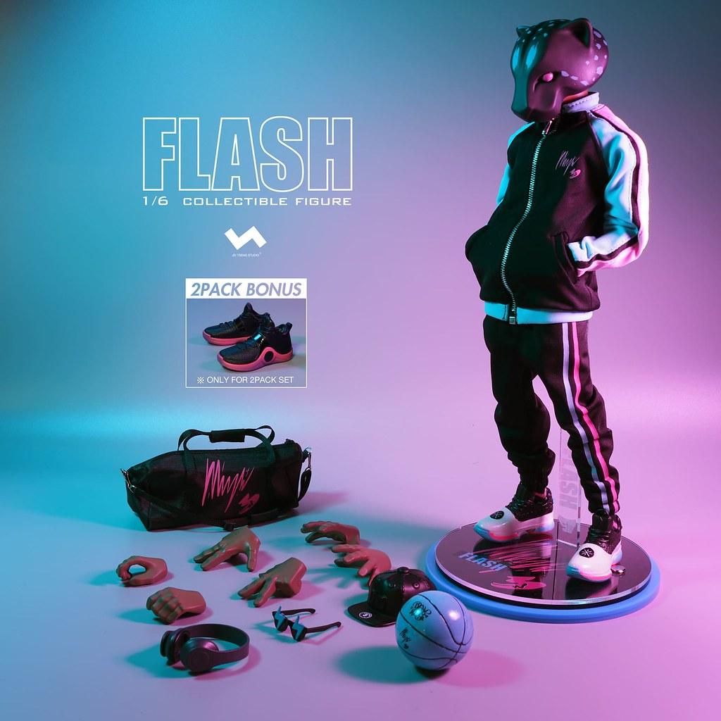 那位以速度擊敗帝王的男人! J.T Studio Street Mask 系列【Flash】1/6 比例人偶