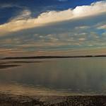 24. Jaanuar 2020 - 5:28 - Winter sky, near twilight, over Fleets Cove Beach and Northport Bay, Huntington, New York.