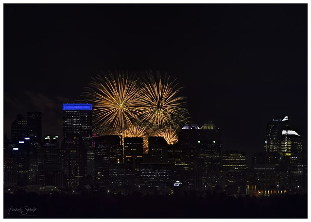 Calgary Stampede Fireworks 2020-07-03