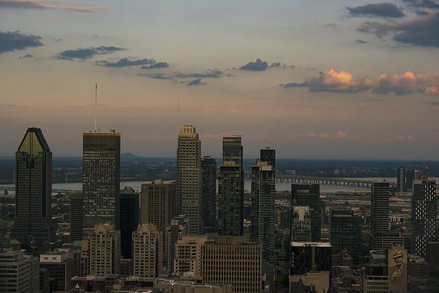 Montréal vue du belvédère