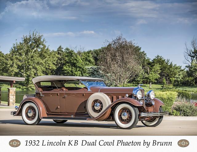 1932 Lincoln Model KM dual-cowl Phaeton by_brunn