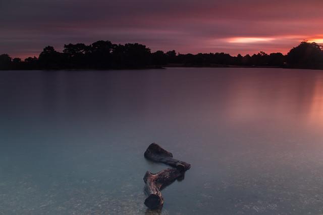 First light over Hatchet Pond - Long Exposure