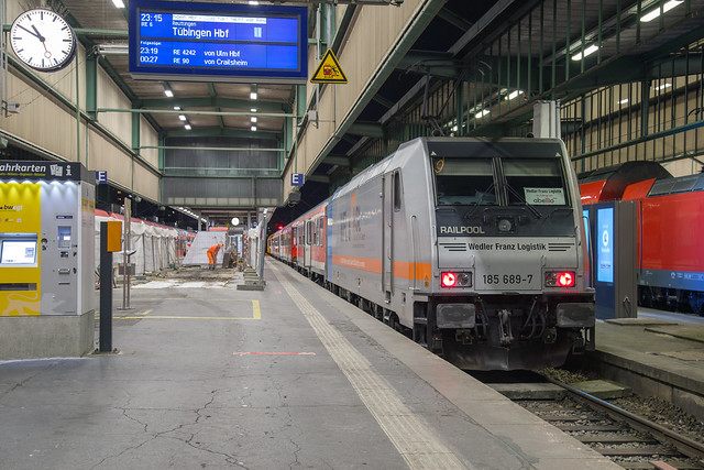 Railpool 185 689 Stuttgart Hbf