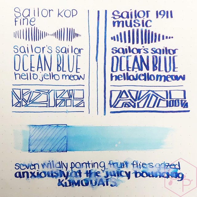 Sailor's Sailor Ocean Blue Ink 1