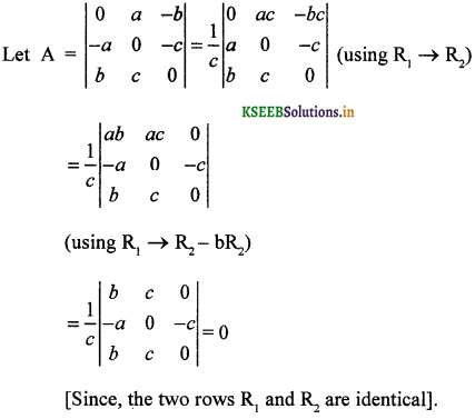 2nd PUC Maths Question Bank Chapter 4 Determinant 58