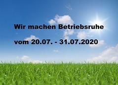 Aktuelles Projekt: Betriebsruhe 2020