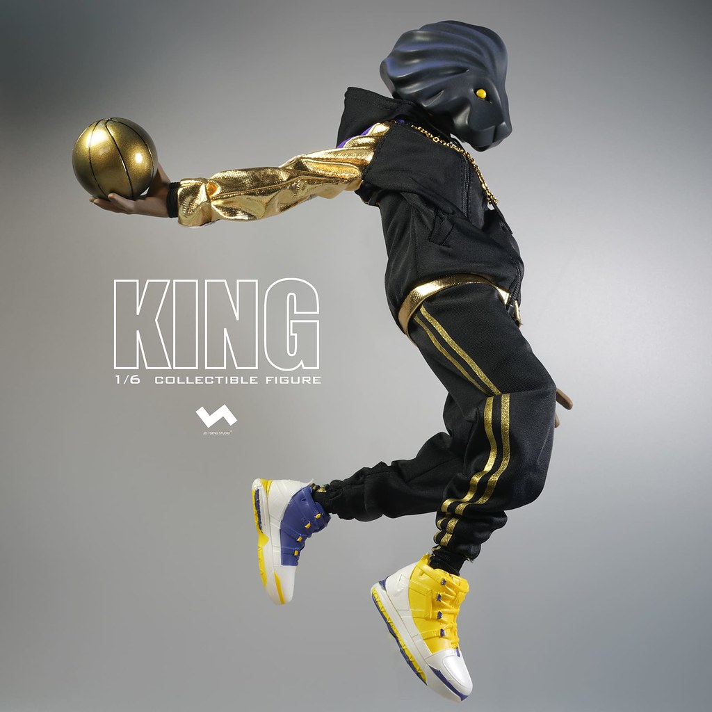以精湛球技稱霸球場的帝王! J.T Studio Street Mask 系列【King】1/6 比例人偶