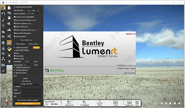 Working with Bentley LumenRT CONNECT Edition v16.13.23.31 full license