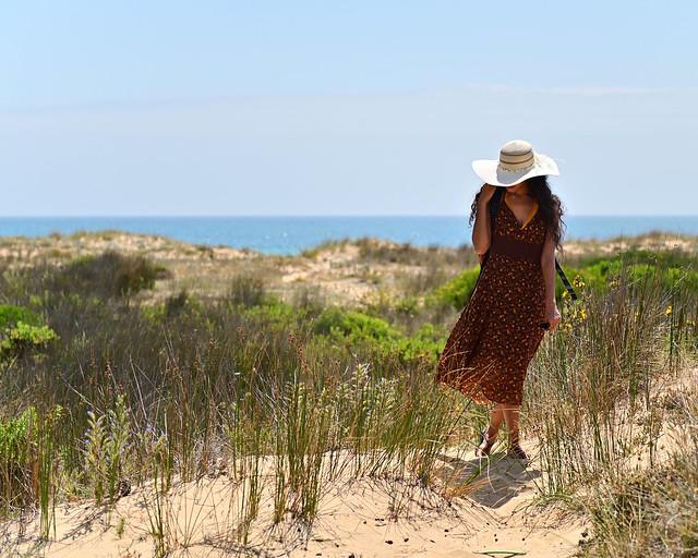 Llegando a la Playa de la Mangueta