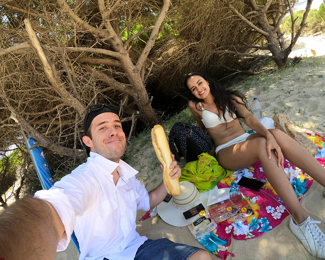 Picnic en la playa de Valdevaqueros