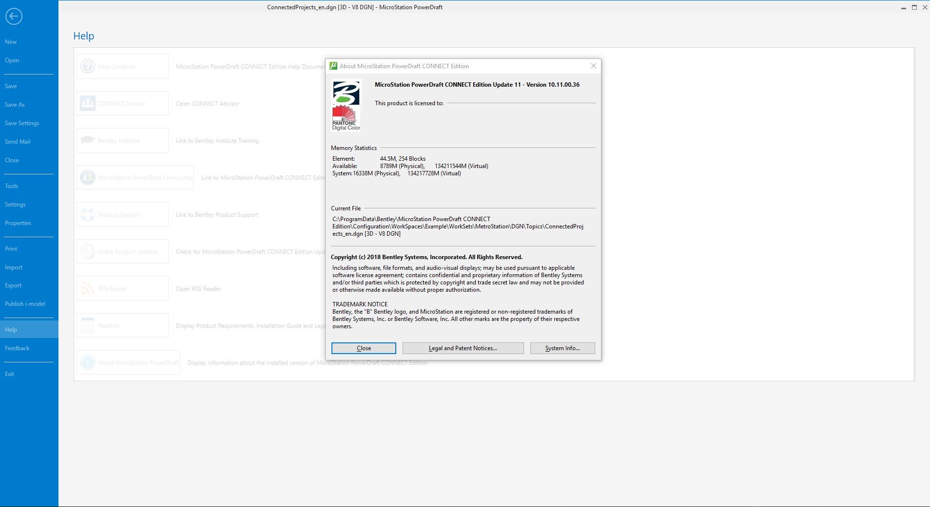 Working with Bentley MicroStation PowerDraft CONNECT Edition 10.11.00.36 full