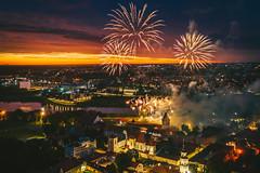 Fireworks | Kaunas aerial