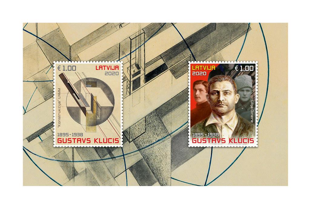 Pastmarku bloks Gustavs Klucim 125 - Latvijas Pasts - Flickr