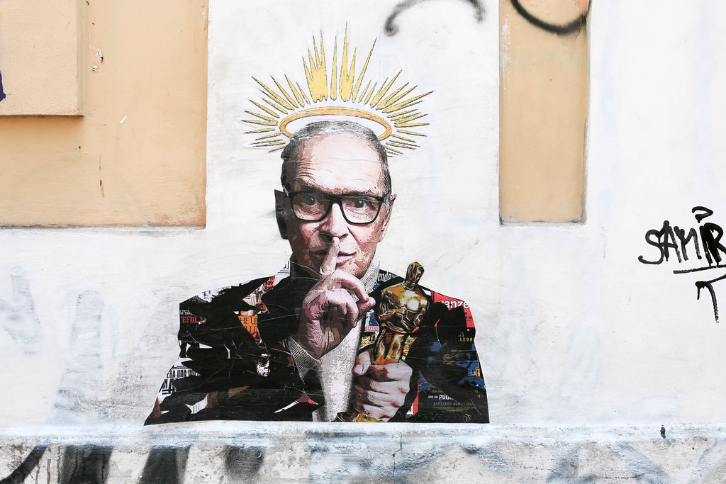 Ennio Morricone (1928-2020) The King of Soundtrack - Street artist by Harry Greb