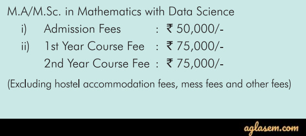 For MA/M.Sc in Mathematics with Data Science Course Fee Structure