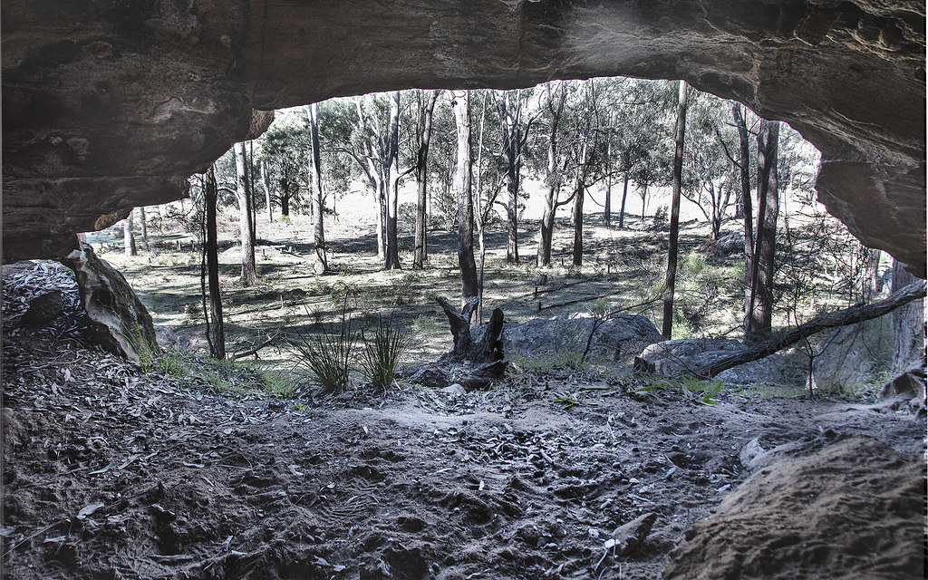 View Through a Cave Mouth - Who Lived Here?