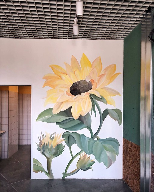 Extraordinary Wall Painting Flower