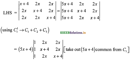 2nd PUC Maths Question Bank Chapter 4 Determinant 27
