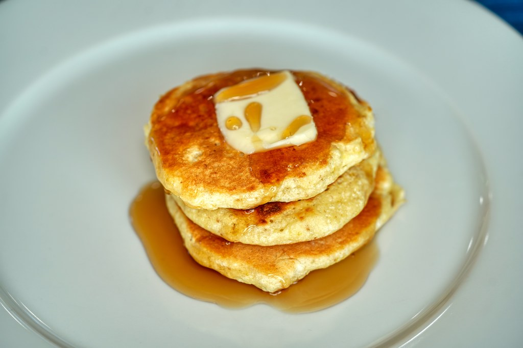 Pancake with Butter and Syrup