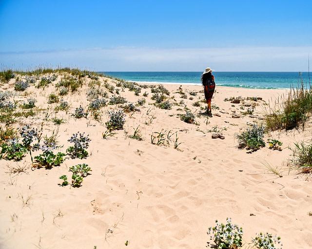 Llegando a la playa de Zahora