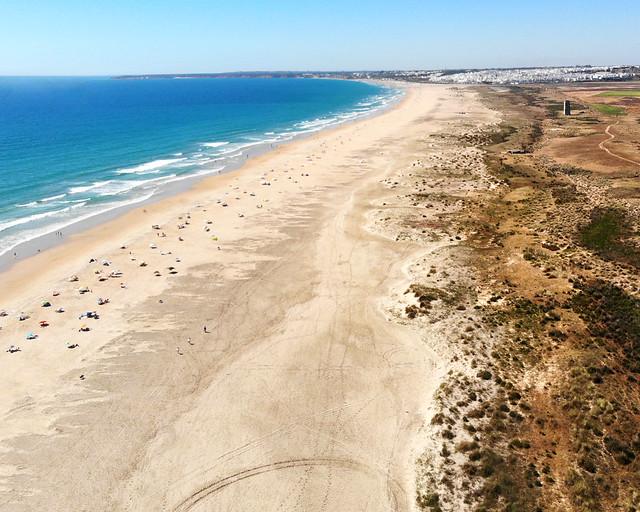 Playa de Castilnovo en Conil de la Frontera, Cádiz
