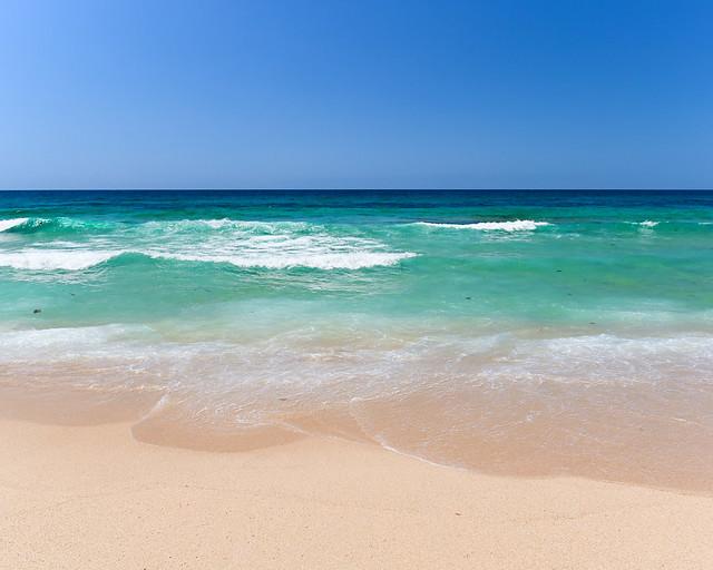 Orilla de la playa de Zahara de los Atunes