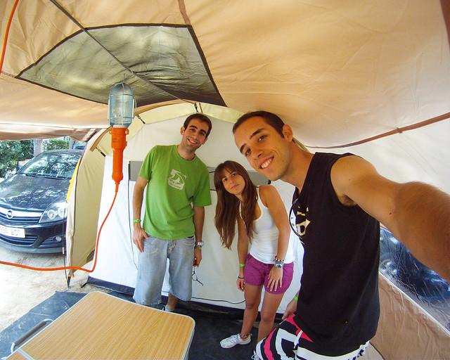 En uno de los camping de la playa de Los Lances