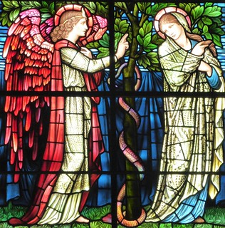 Winchester Cathedral, Burne Jones, The Annunciation