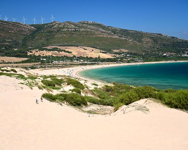 Punta Paloma y la duna de Valdevaqueros, en Cádiz