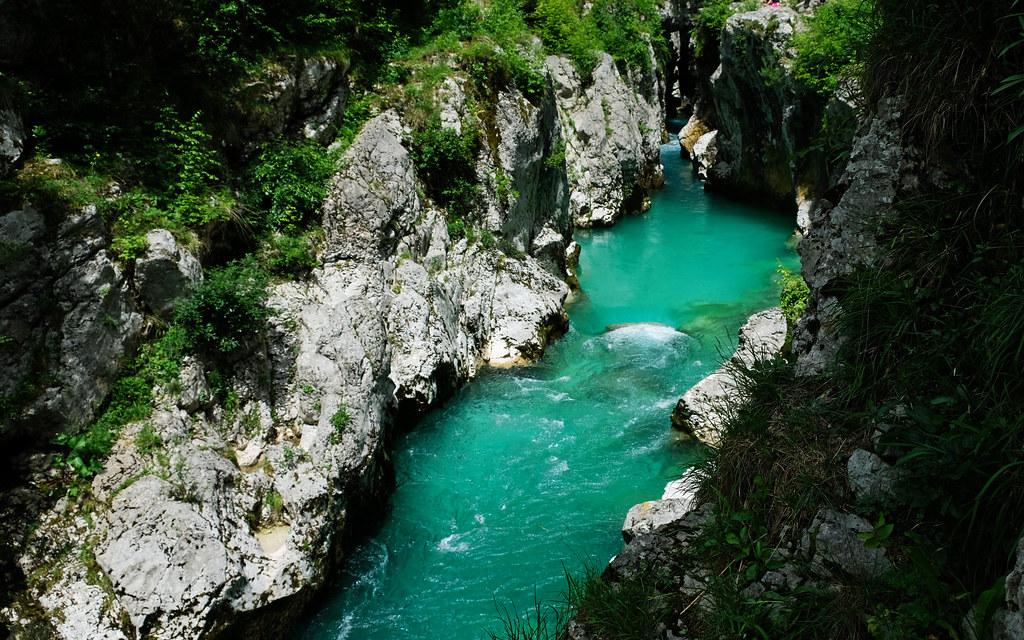 Velika Korita, Soča River Trail, Slovenia