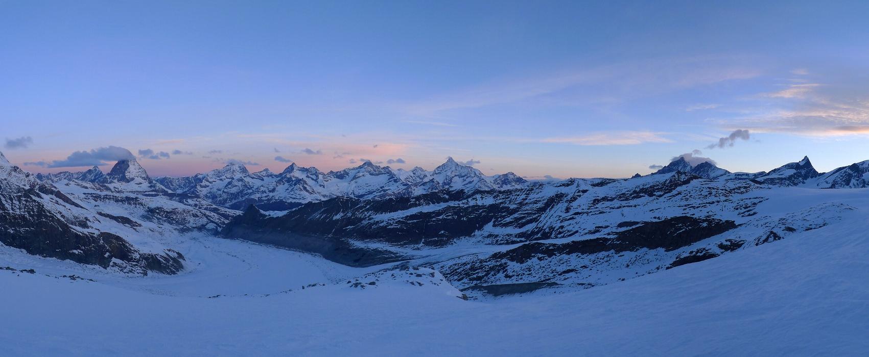 Nordend - Monte Rosa Walliser Alpen / Alpes valaisannes Švýcarsko panorama 18