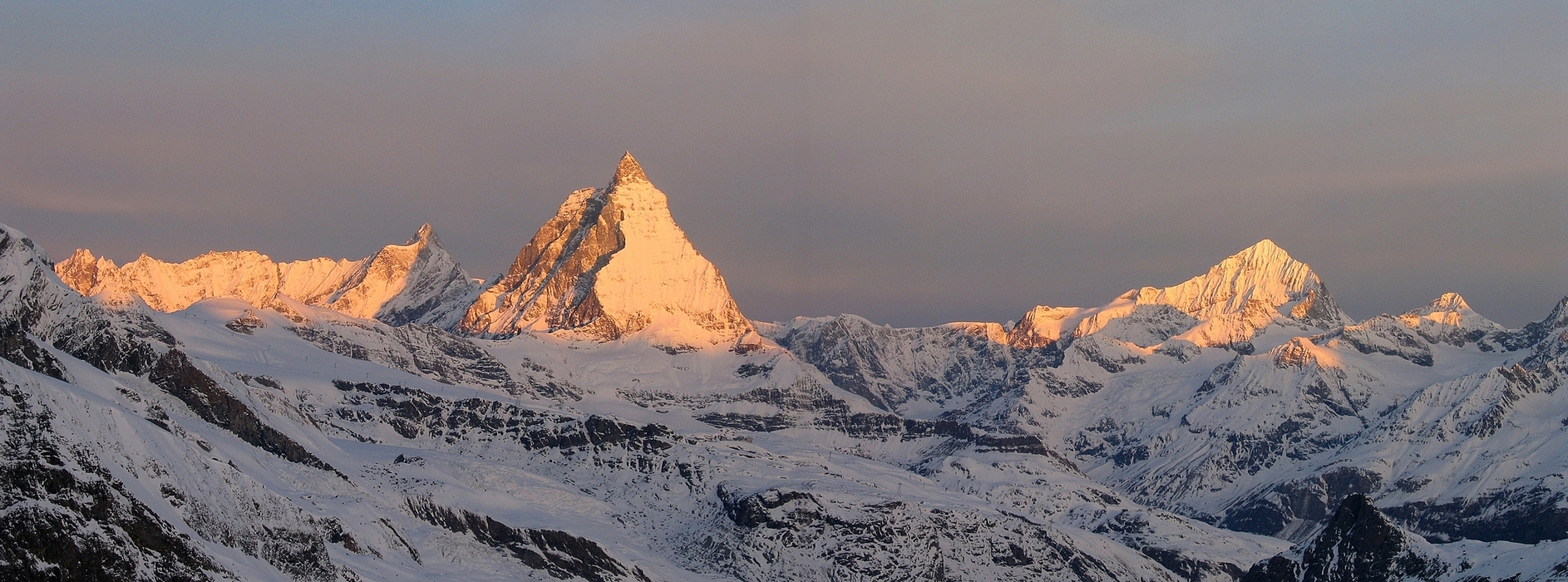 Nordend - Monte Rosa Walliser Alpen / Alpes valaisannes Švýcarsko panorama 19