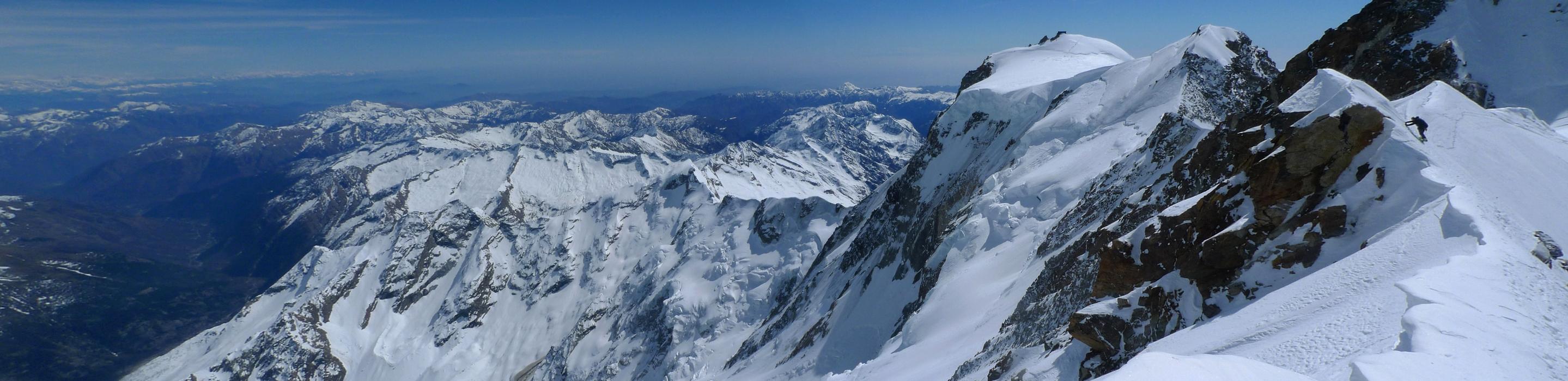 Nordend - Monte Rosa Walliser Alpen / Alpes valaisannes Švýcarsko panorama 37