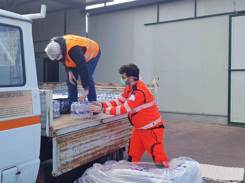 Francesco Catalano, volontario Anpas a Palermo con la pubblica assistenza LeAli