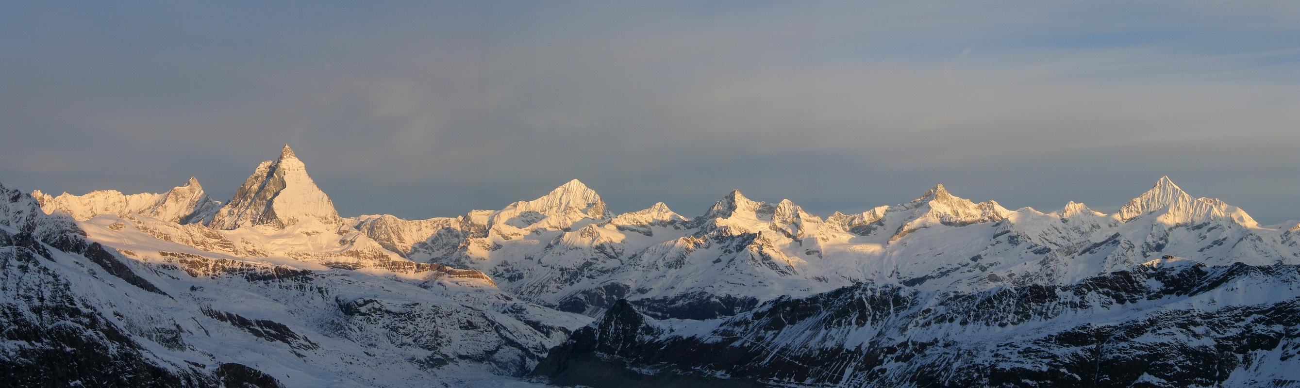 Monte Rosa Hütte Walliser Alpen / Alpes valaisannes Switzerland panorama 30