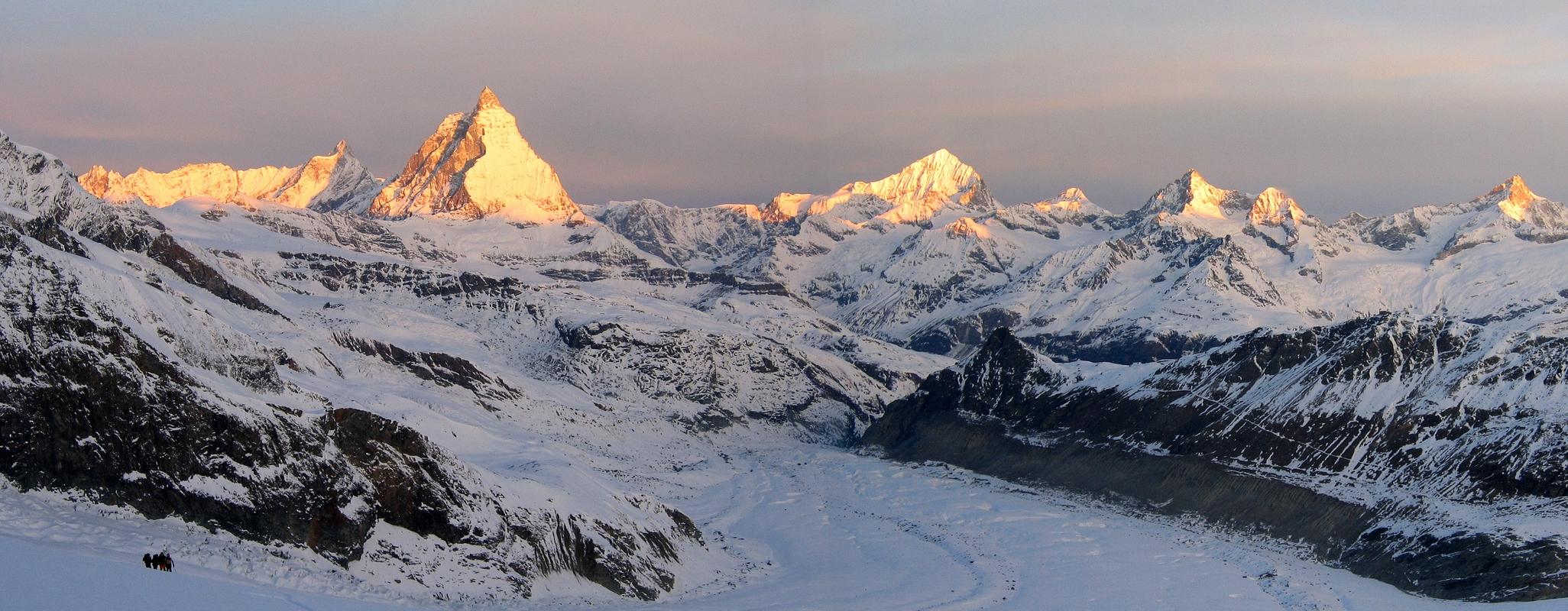 Monte Rosa Hütte Walliser Alpen / Alpes valaisannes Switzerland panorama 32