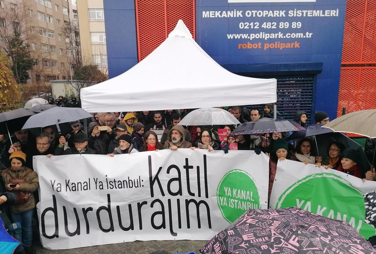 Ya Kanal Ya Istanbul protest