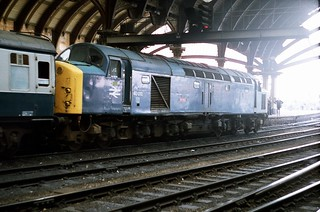 40013 'Andania' Class 40 working 1E98 Liverpool - Scarborough seen at York