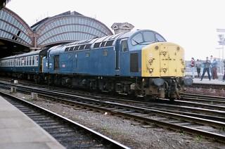 40013 'Andania' Class 40 working 1E98 Liverpool - Scarborough seen departing York