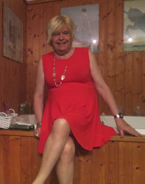 I do love this red dress on me