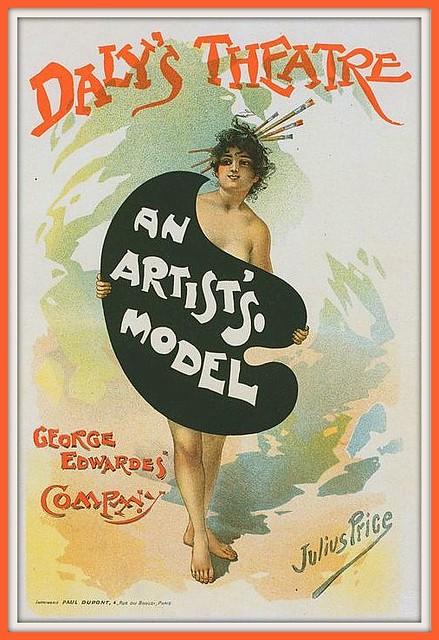 1896 - An Artist's Model - Affiche angliaise pour le Daly's Theatre - Art by Julius Mendes Price