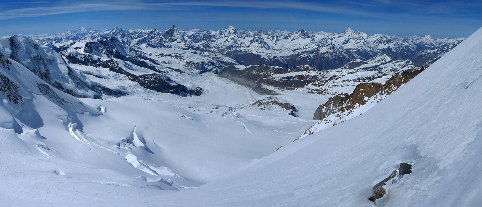 Nordend - Monte Rosa Walliser Alpen / Alpes valaisannes Švýcarsko panorama 40