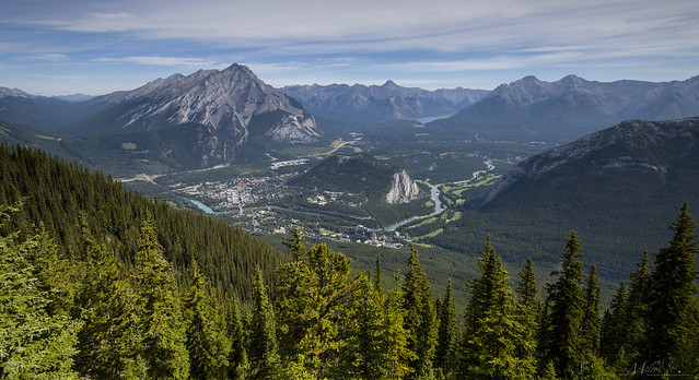Overlooking Bow Valley and Town of Banff