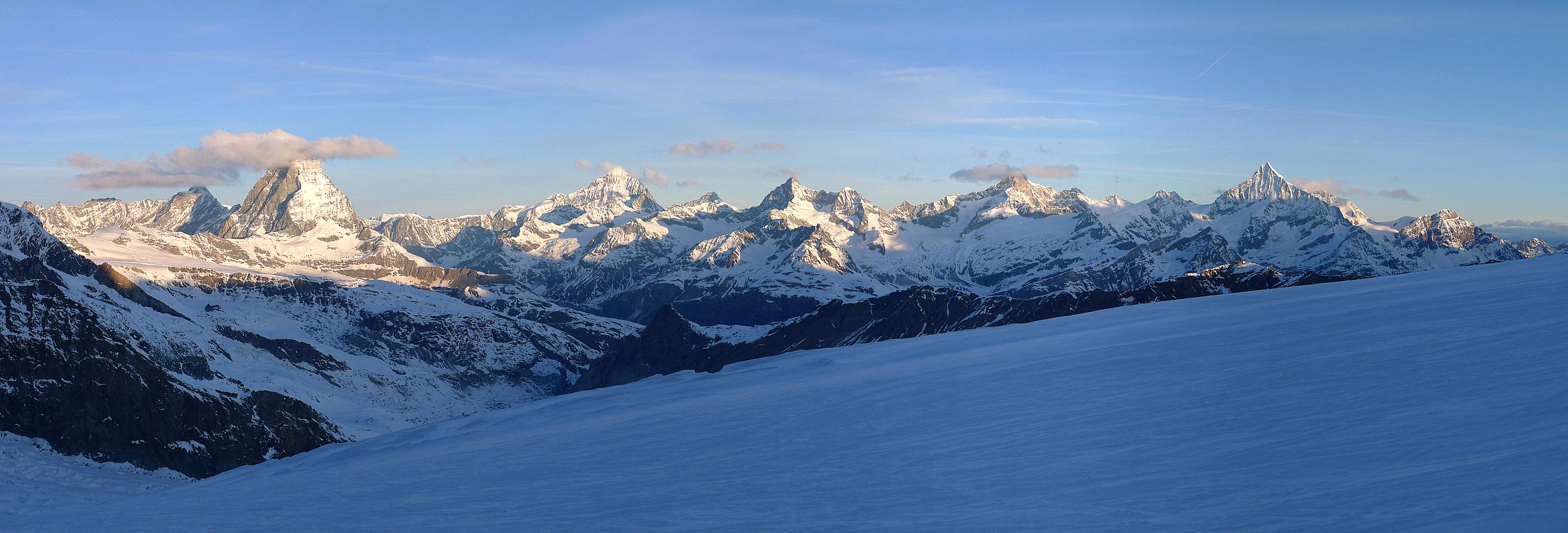 Monte Rosa Hütte Walliser Alpen / Alpes valaisannes Switzerland panorama 31