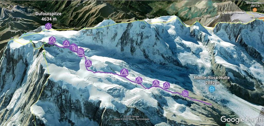 Dufourspitze / Punta Dufour - Monte Rosa Walliser Alpen / Alpes valaisannes Švýcarsko foto 18