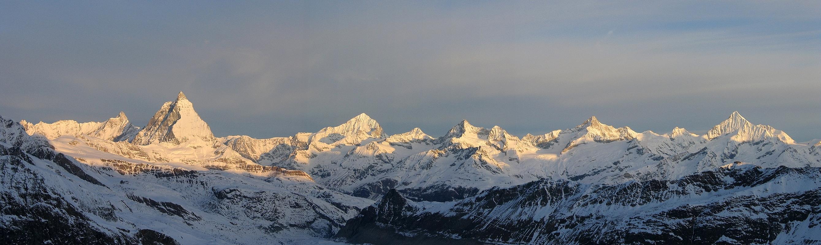 Dufourspitze / Punta Dufour - Monte Rosa Walliser Alpen / Alpes valaisannes Švýcarsko panorama 27