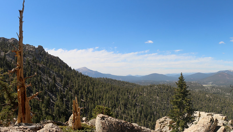 View south from the PCT near Ash Meadow with Olancha Peak on the left